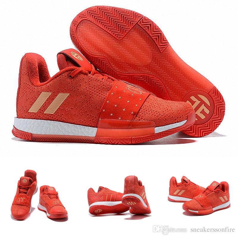 089e341ba71 2019 2019 Newest James Harden 3 Vol.3 Red Metallic Gold Mens Basketball  Shoes High Quality Trainer Sport Sneaker Size 40 46 From Sneakerssonfire