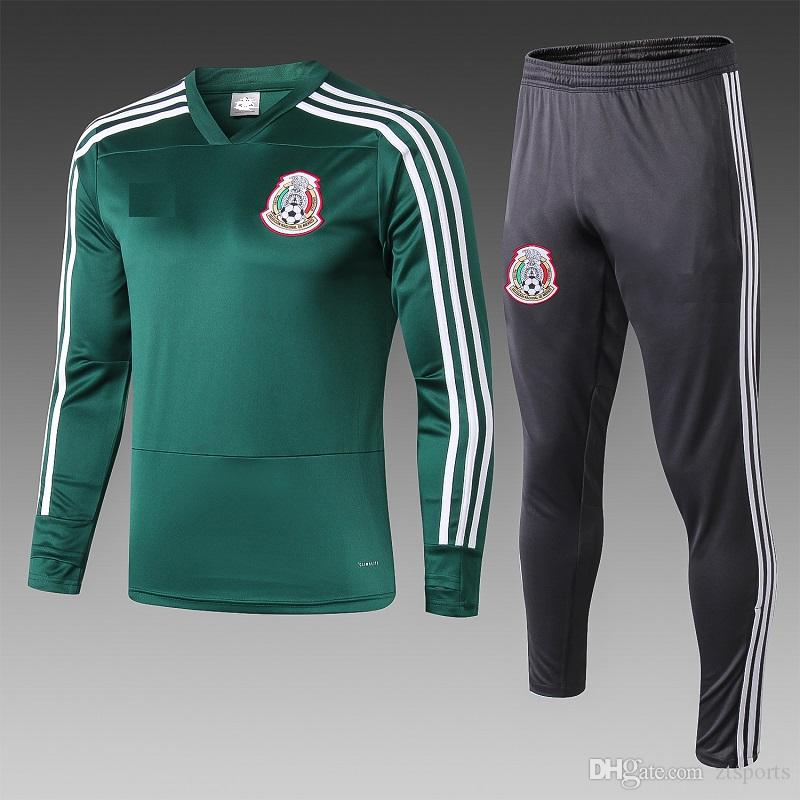 19 20 World Cup Long sleeves Mexico football training suit 2019 soccer jerseys Max Soccer Jersey suit team uniform jersey custom
