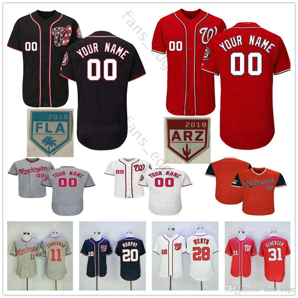 finest selection a7390 096b8 Custom Mens Stitched #7 Trea Turner 1 Wilmer Difo 10 Yan Gomes 47 Gio  Gonzalez 2 Adam Eaton Men Women Kids Youth Baseball Jerseys