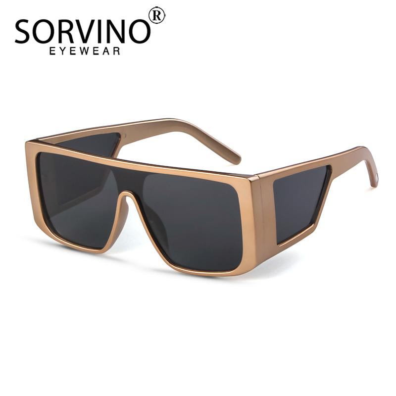 fdcfb181c47 SORVINO Retro Big Square Frame Mens Sunglasses Luxury Brand Designer  Oversize Black Visor Sun Glasses Men Shades For Women SP269 Black Sunglasses  Cycling ...