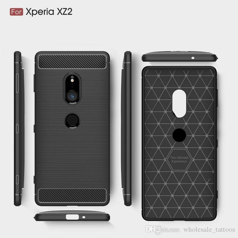 factory authentic b6e0a 517b3 1.5mm Brushed Carbon Fiber Armor Case For Nokia 7.1 Plus X7 6.1 Plus X6  Sony Xperia XA3 XA3 Ultra Soft TPU Shockproof Back Cover Case