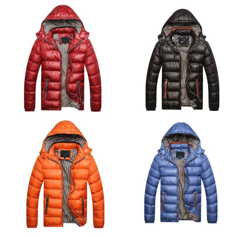 e3ff5e2e157 Winter Jacket Men 2018 Fashion Hooded Male Cotton Parka Jacket Mens Solid  Thick Jackets Slim Coats Man Winter Parkas Parkas Cheap Parkas Winter  Jacket Men ...
