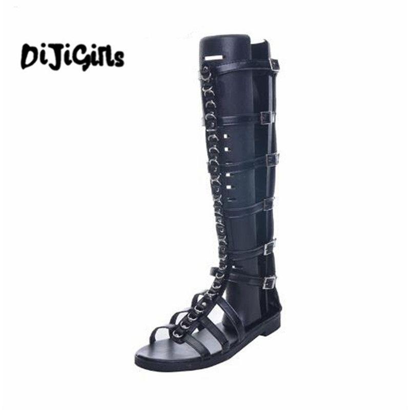 Marca Metal Sandalias Mujer Compre Cadena Gladiador De Moda tdhBosQrCx