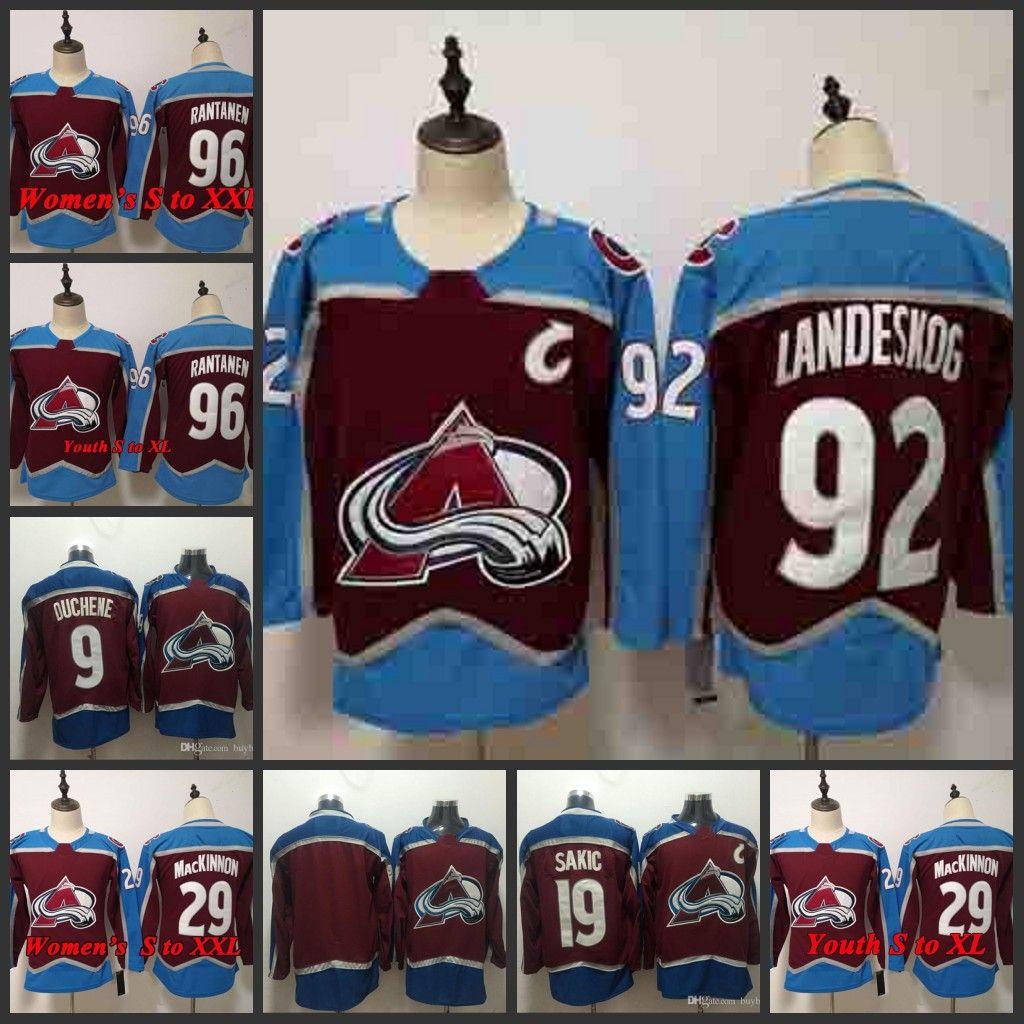 99919fc39 2019 ado Avalanche Hockey Jerseys 92 Gabriel Landeskog 29 Nathan MacKinnon  19 Joe Sakic 9 Matt Duchene 96 Mikko Rantanen Jersey From Buybestgoods