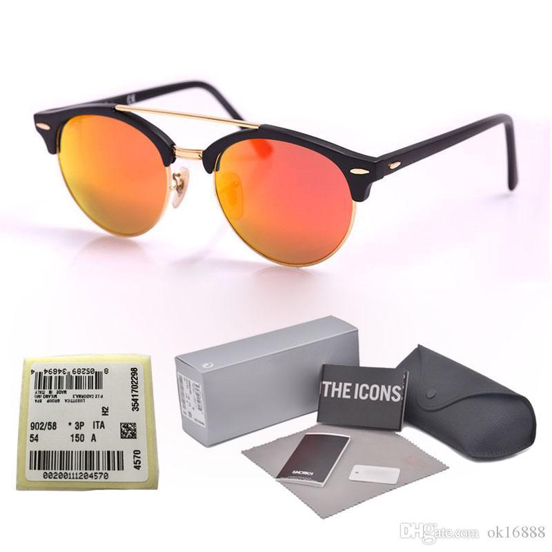 0f12509c776d Brand Design Round Sunglasses Women Men Glasses Points Retro Rivet Half  Metal UV Glass Lens Club Colorful Sun Glasses With Cases And Label Spitfire  ...