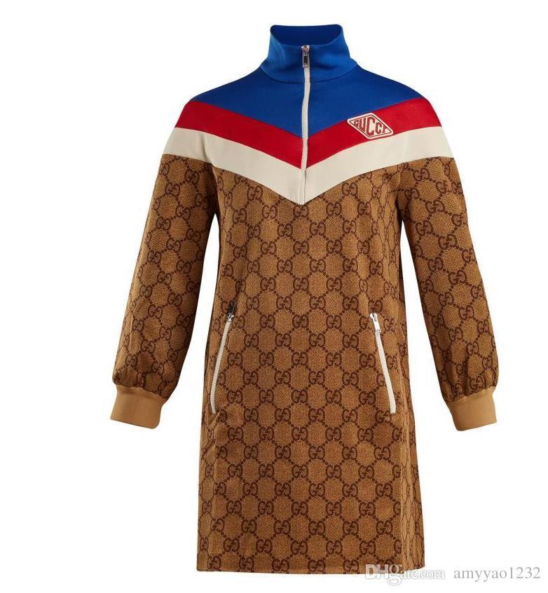 1227 2019 Free Shipping Plus Size Dress Empire Crew Neck Above Knee Long  Sleeve Runawy Dress Women s TB