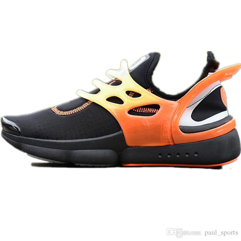 sports shoes 2c15e 2e65d ... KJCRD Presto Diseñador Zapatos Corrientes Para La Calidad Superior  Negro Blanco Blanco Naranja Hombres Mujeres Zapatillas De Deporte  Chaussures Tamaño ...