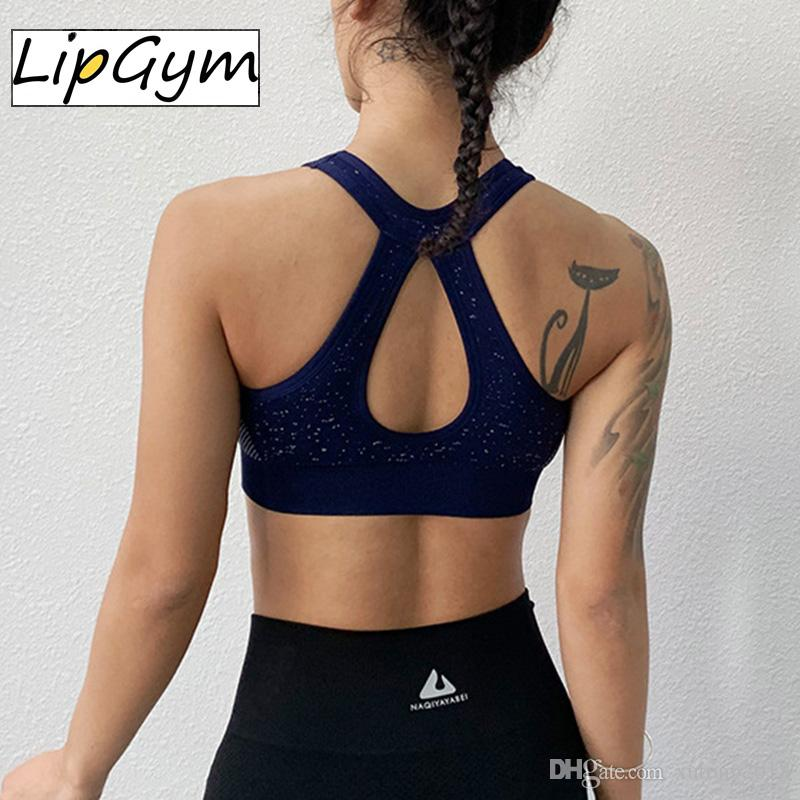 9715e089e74 Women Sports Bra Drop Shape Yoga Tanks Tops Beauty Backless Gym Fitness  Running Brassiere Padded Tops Jogging Clothes Girls Sexy