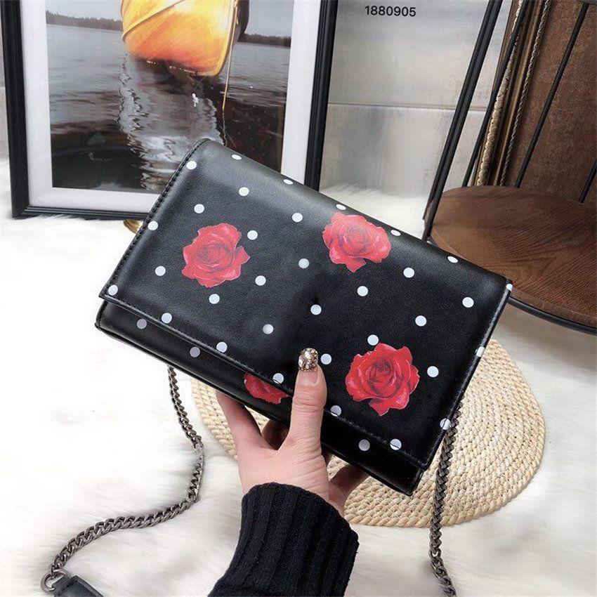 Famous Luxury Brand Designer Lady Chain Handbag Rose Shoulder Bags ... cfba0d31a4c0a