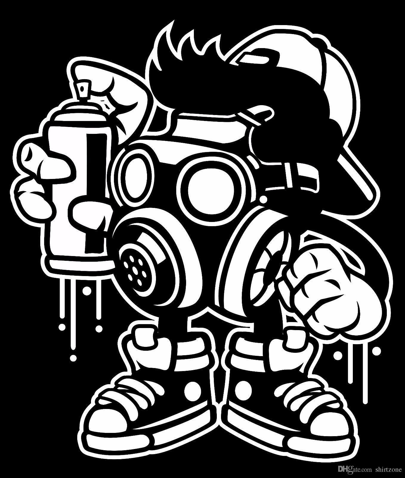 Bomber Painter Graffiti T Shirt Black Or White Tee Tees Shirt Men