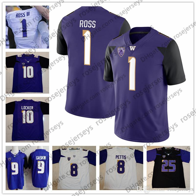 newest 6a9f9 11196 Washington Huskies #1 Warren Moon John Ross III 6 Desmond Trufant 10 Jake  Locker 21 Marcus Peters Black Purple White Reited Football Jersey