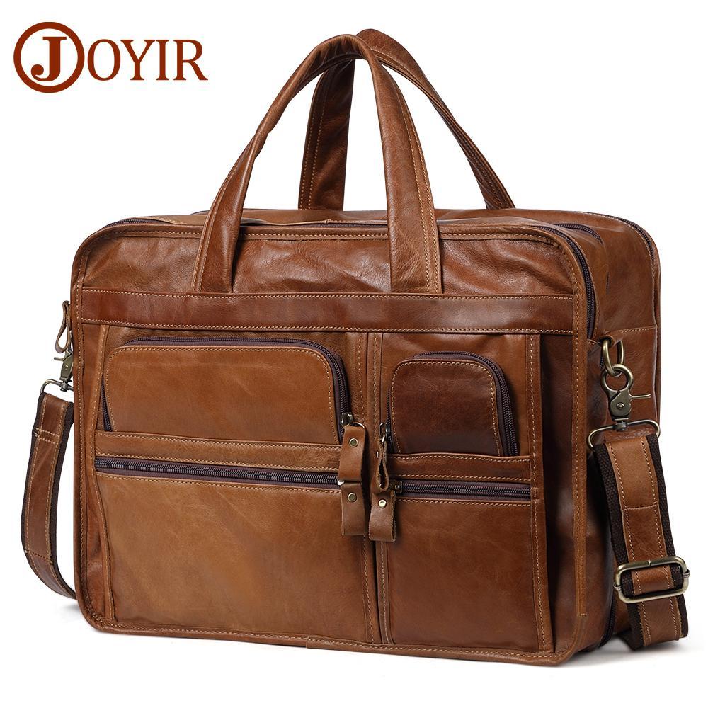 4d3435b2c4 Men S Briefcases Genuine Leather Satchel 15.6 Laptop Office Handbag Male  Business Messenger Bag Shoulder Discount Handbags Document Case Handbags  Designer ...