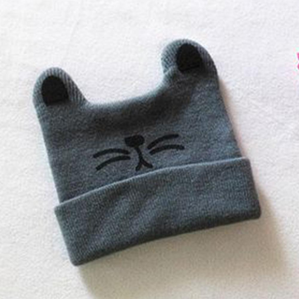 4909a99b336 ful Cute Infant Knitted Kids Hats Baby Autumn Winter Hat Cotton Beanie Cap  Toddler From Lou88