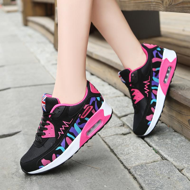 1efb1cc28fd Women Sneakers Casual Shoes Woman Comfortable Mesh Breathable Flats ...