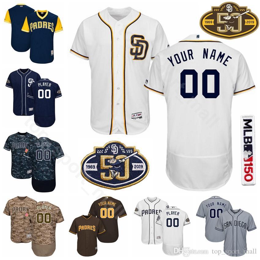 c6b6a2808 2019 San Diego Baseball Padres 4 Wil Myers Jersey 30 Eric Hosmer 13 Manny  Machado 23 Fernando Tatis Jr. 3 Ian Kinsler Custom Name From  Top sport mall