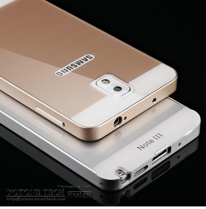 53bb65e12 Luxury Ultra Thin Aluminum Metal Case For Samsung Galaxy Note 3 N9000 Note  4 Note 5 Capa Metal Frame With PC Protective Cover Customize Your Own Cell  Phone ...