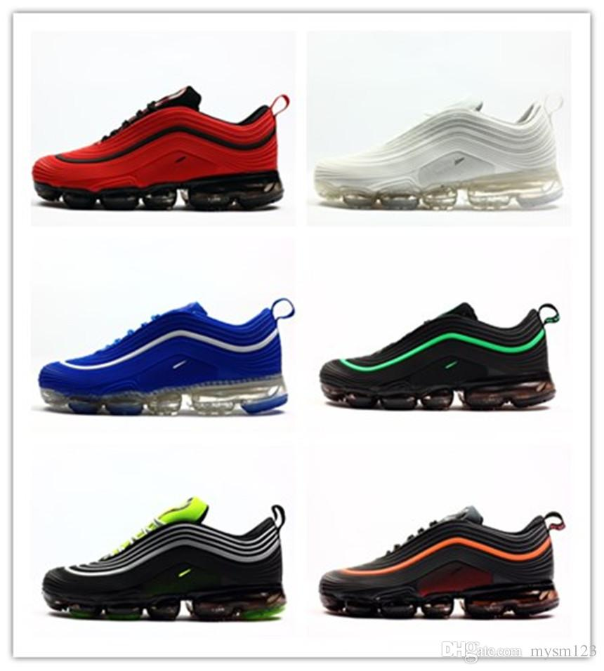 bf4ed6c3cf 2019 2018 New 97 Kpu OG 97s Triple Black White Green Metallic Silver Red  Rubber Mens Running Shoes Sneakers With Box Size 7 13 From Mysm123, $60.3    DHgate.