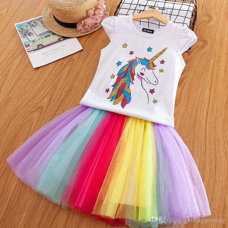 1a0f6ed246f86 Unicorn Baby Girl Dress Tutu Dresses Children Unicorn Party Little Girl  Kids Clothes Vestidos Princess Rainbow Outfits Dress