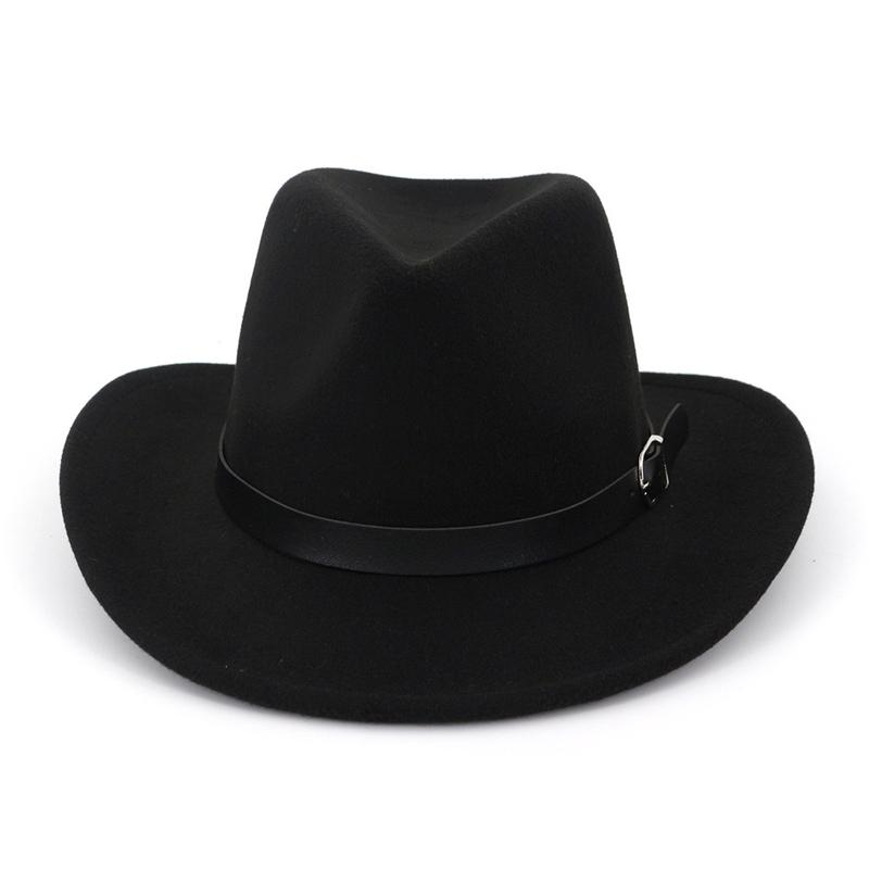 a9c6c6a0391 European US Fashion Cheap Men Women Wool Felt Fedora Beach Shading Unisex  Cowboy Hats Belt Buckle Decor Jazz Party Cap Online with  9.72 Piece on ...