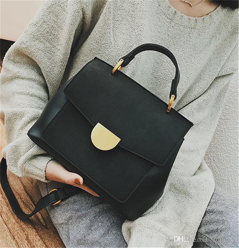 a7bdb09f8a93b Satın Al 2019 Sıcak Tasarımcı Çanta Çantalar Bayan Sıcak Satış Basit  Tasarımcı Crossbody Çanta Yeni Varış Sıcak Satış Kahverengi Yeşil Siyah  Renk Bayan ...