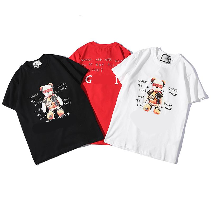 0a5706ce942 Mens T Shirt 2019 Summer New Designer Co-branded Clothes Letter ...