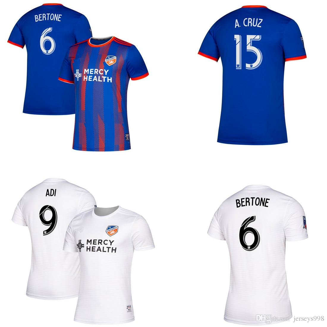 online store 03c61 50cfd 2019 2020 FC Cincinnati soccer jersey 19 20 Thai quality MLS GARZA WASTON  BERTONE ADI A.CRUZ football jerseys shirt