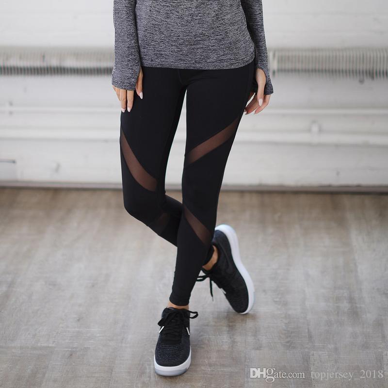 Compre NUEVO Fitness Yoga Leggings Deportivos Para Mujeres Deportes Malla  Apretada Leggings De Yoga Pantalones Mujeres Corriendo Pantalones Medias    73695 A ... 1c6be394f3c3