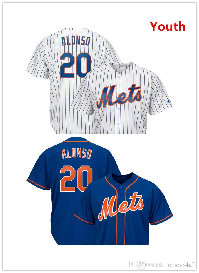 272f63ca 2019 Youth Kids Child New York Mets 20 Pete Alonso Jersey Blue White ...