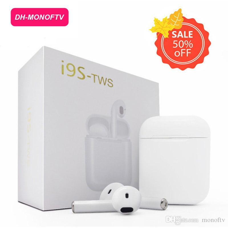 1 PCS TWS Earphone Bluetooth Earpiece Wireless Earbuds Noise Canceling  Headphone With Charging Box for iphone X 7 8 Samsung Xiaomi