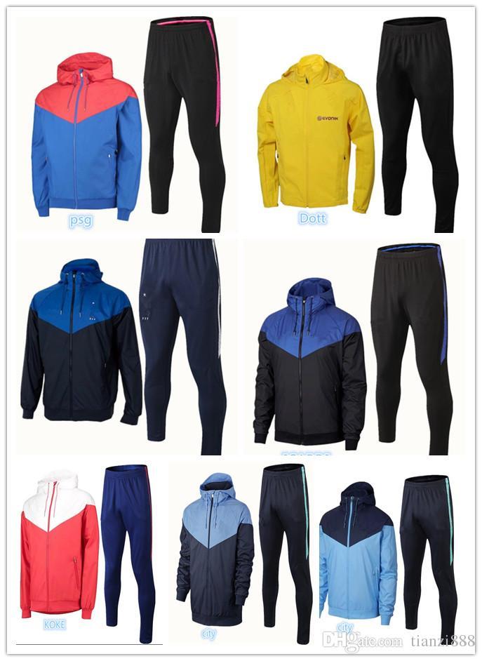Compre 2018 2019 Nuevos Hombres Traje De Entrenamiento Windbreaker Soccer  18 19 Camisetas De Futbol Borussia Manyel Nener ICARDI KOKE Kits De  Rompevientos A ... d053cddcd45ec
