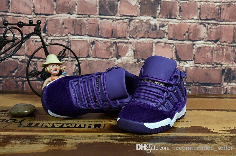 best service 4367f 3a36a Kids Shoes Retro Eleven 11 Heiress Purple Velvet 2018 Concord 45 Space Jam  Gym Red Basketball Shoes Children Boys Girls 11s Sneaker For Sale Sports  Shoes ...