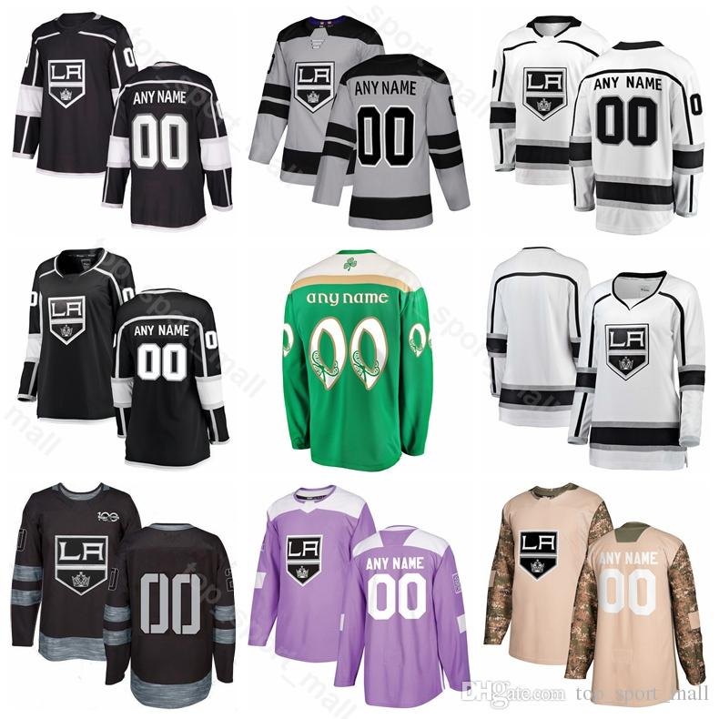 d299daba0 2019 Custom Adrian Kempe Jersey Los Angeles Kings Ice Hockey 6 Jake Muzzin  51 Austin Wagner 14 Brendan Leipsic Alec Martinez St Patricks Day From  Vip_sport, ...