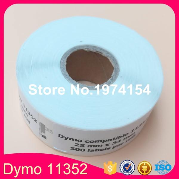 10 Rolls Dymo Compatible 11352 Label 25mm*54mm 500Pcs/Roll Compatible for  LabelWriter400 450 450Turbo Printer SLP 440 450
