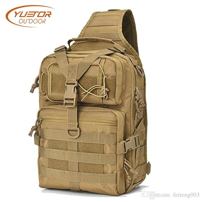f2022e2c62a2 YUETOR OUTDOOR 20L Tactical Sling Bag Pack Men s Outdoor Camping Bags  Military Tactical Shoulder Bag Molle Backpack for Hunting #159208