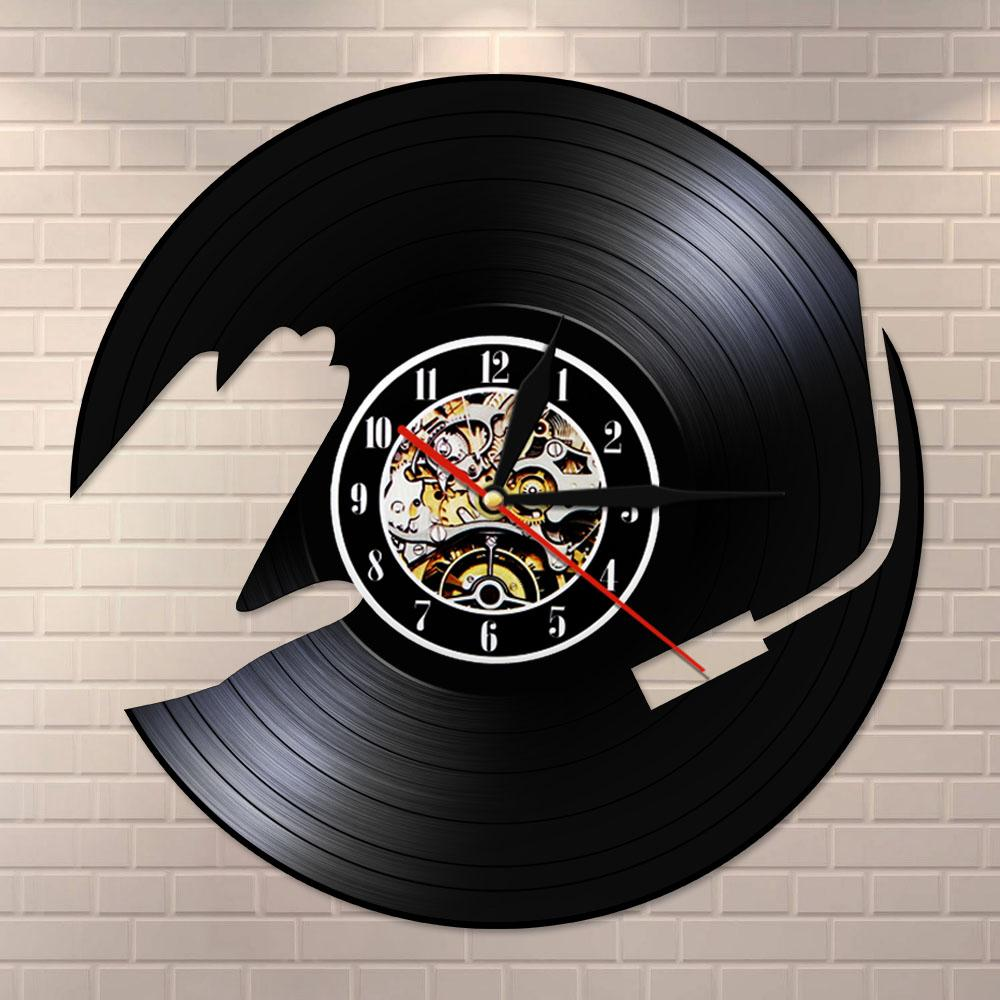 DJ Music Vinyl Record LP Wall Clock Watch 3D Night Light Party Dance Hall Decor Vintage Timepiece Music Club Gift For DJ
