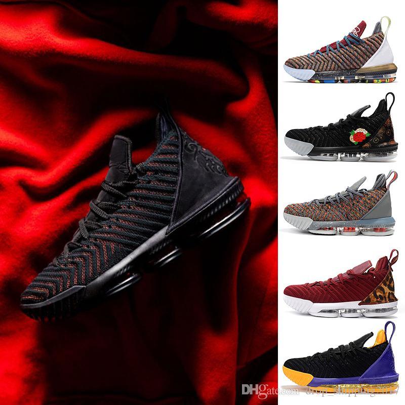 2714dc06c83a4 Acheter NIKE LeBron James 16 Fresh Bred 2019 Nouvelle Arrivée XVI 16  Chaussures De Basketball 1 À 5 Hommes Athletic 16s Wolf Gris Chaussures De  Sport Taille ...