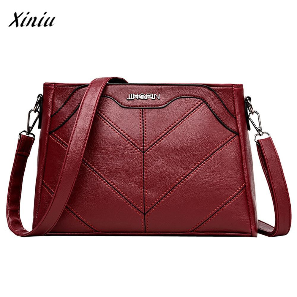 26d333d116d3 Xiniu Fashion Luxury Handbags Women Bags Designer Pure Color Leather ...