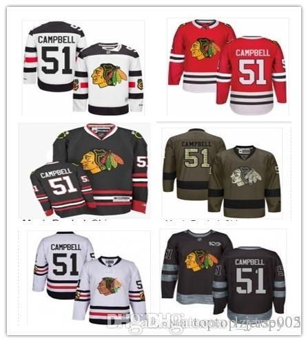 5e037dca1 2018 Chicago Blackhawks Jerseys #51 Brian Campbell Jerseys men#WOMEN#YOUTH# Men's Baseball Jersey Majestic Stitched Professional sportsw