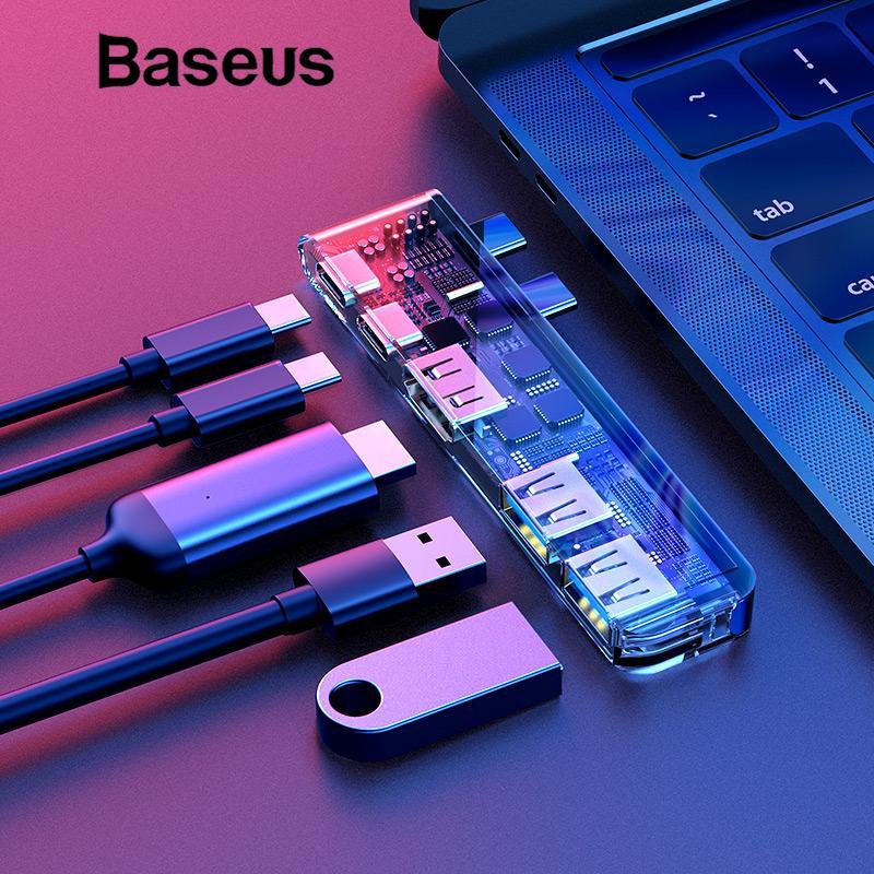 Baseus Dual Type C HUB To USB 3.0 HDMI Thunderbolt For 2016 2017 Mackbook Pro