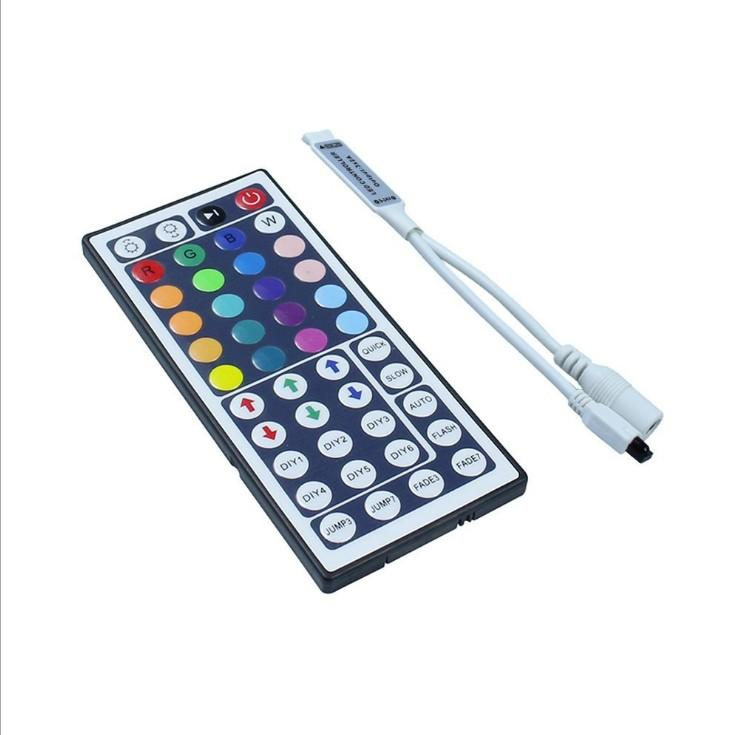 DC12V 6A Mini 44Key IR Remote Controller for 3528 5050 SMD RGB LED Strip Light