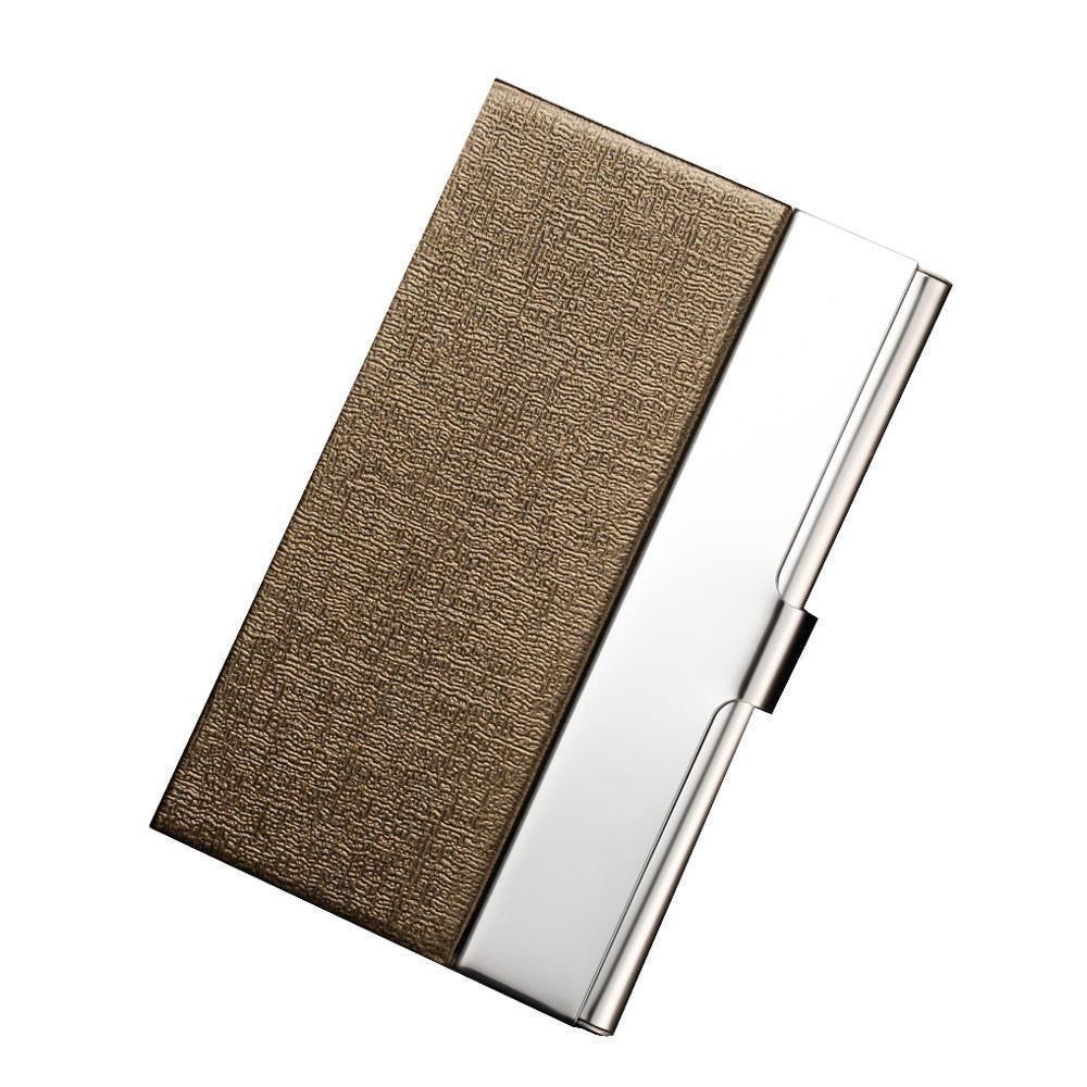 de229e9d809f Men Women Business Credit Card Holder Pocket Stainless Steel Metal Business  Card Holder Case Id Credit Wallet Fashion Card Case