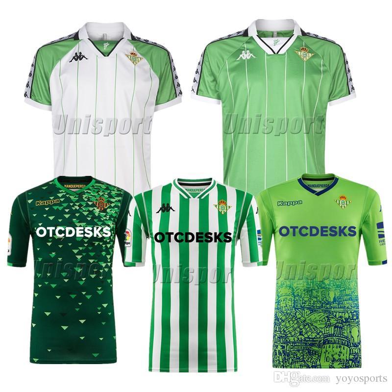 753b3698650ae 2019 2018 19 Real Betis Soccer Jerseys Bartra Joaquín Tello Futbol Camisetas  Retro Football Camisa Vintage Shirt Kit Classic Maillot From Yoyosports