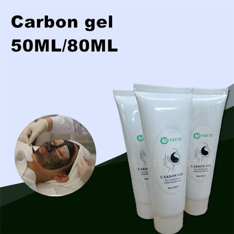 50 ml 80 ml Yumuşak Lazer Karbon Krem jel q anahtarı için nd yag lazer cilt gençleştirme tedavisi Aktif karbon krem
