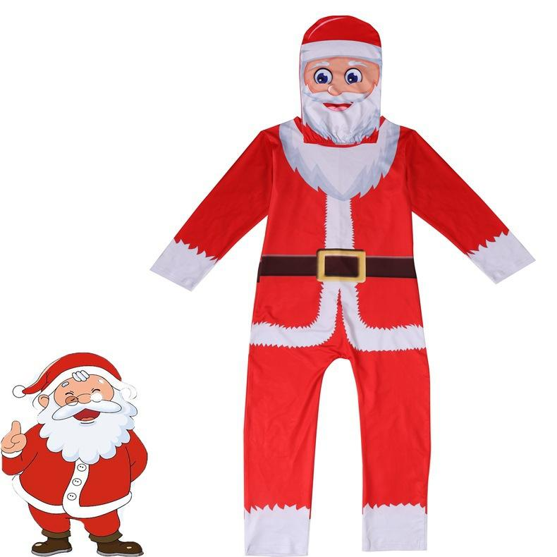 c43b4f9e9313 Kids Merry Christmas Santa Claus Cosplay Costume Kids Jumpsuit With Mask Xmas  Party Show Good Group Halloween Costumes 3 Person Costumes From Hognyeni
