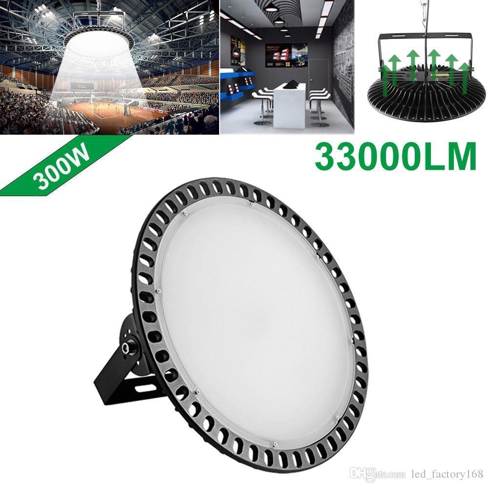 Led La Baie Entrepôt Lampe Usine Ufo Lumière Slim 300w Étanche À Éclairage Haute Poussière Industriel 54RjqcLA3