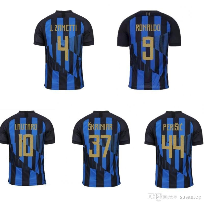 online retailer 95460 a9968 Inter 20th anniversary jersey LAUTARO J.ZANETTI RONALDO PERISIC kids kit  soccer jerseys adult soccer tops Custom any name and number