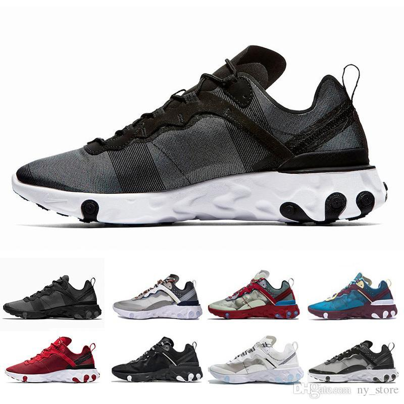 f4e8ce2c222d 2019 Epic React Element 87 55 Undercover Men Running Shoes For Women  Designer Sneakers Sports Mens Trainer 55s 88s Sail Light Bone Sneakers 36  45 From ...