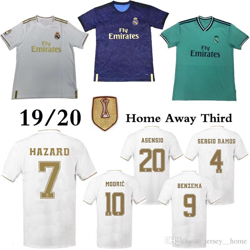 c5992ecd08 2019 Real Madrid Hogar Lejos Camisetas De Fútbol PELIGRO Camiseta De Fútbol  19/20 BENZEMA MODRIC MARCELO 2020 KROOS ISCO BALE Camisetas De Fútbol Por  ...
