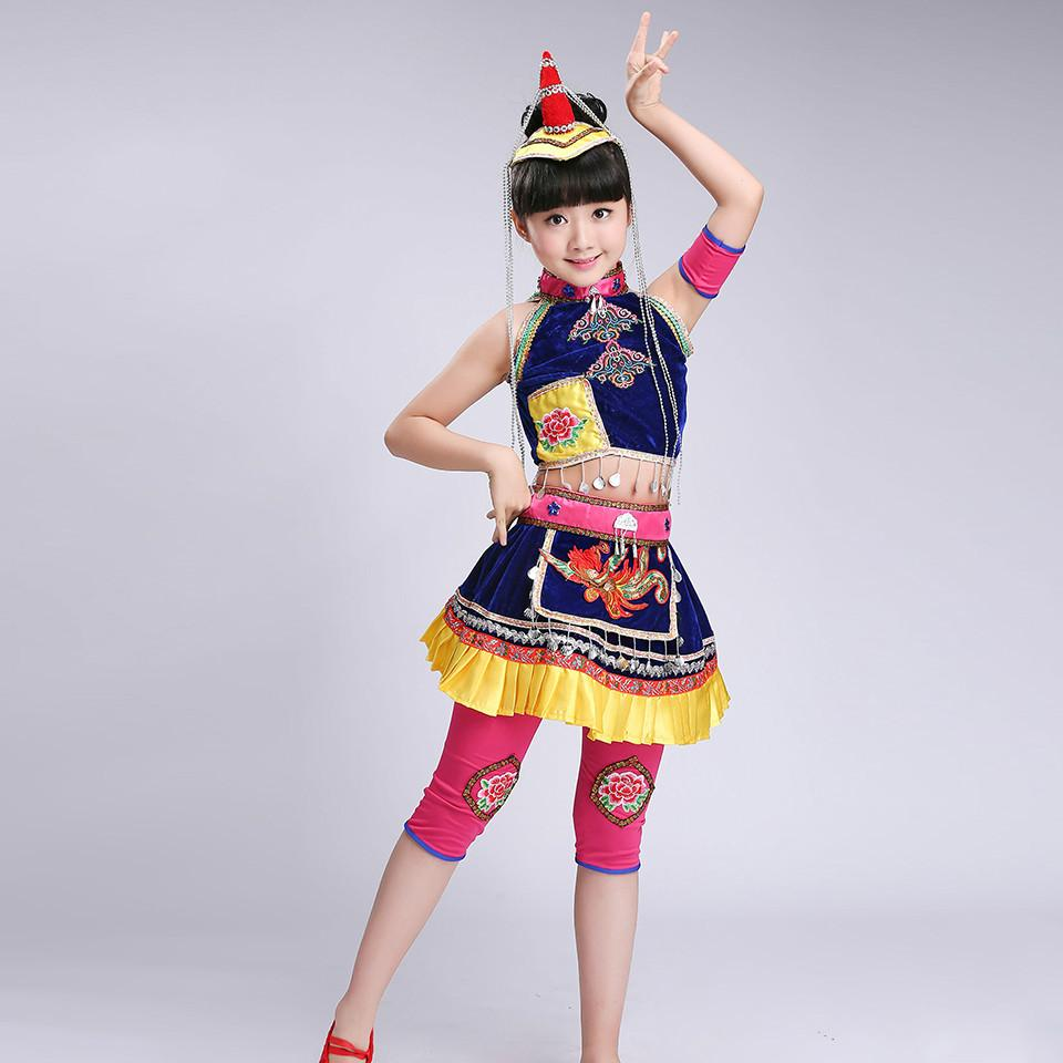 34227b93c 2019 Kids Hmong Clothes Ballroom Dance Wear Miao Costumes With Hat  Classical Traditional Chinese National Minority Dance Costumes From  Bigseaa, ...