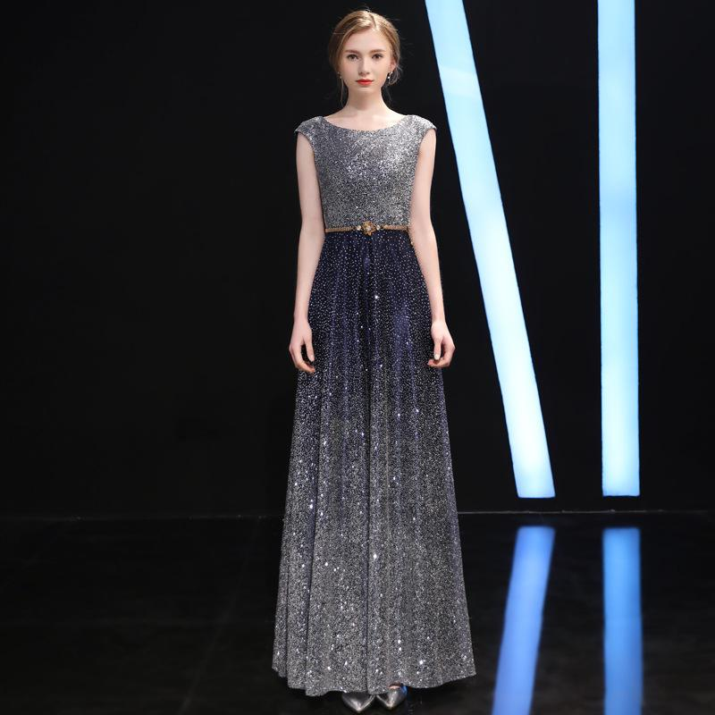 1f50dbb1077 JY690 Ever Pretty Gold Prom Dresses O-neck Mermaid Sparkle Long Party Gowns  2019 Women s Sexy Sequined Vestidos De Gala Wedding Dress